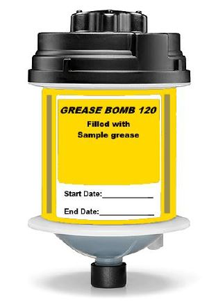 Grease Bomb - Throw away single point lubricator 120ccc