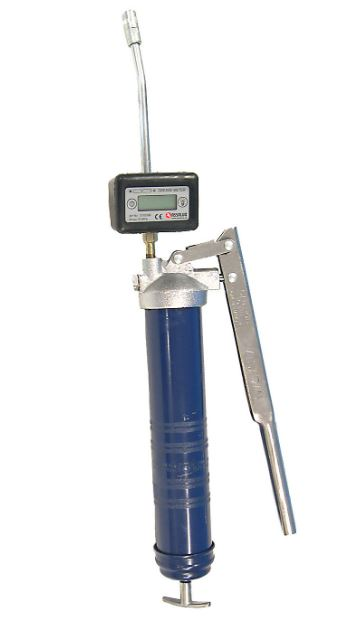 Grease Meter on a grease gun